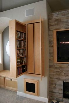 Dvd Storage Solutions hidden storage ideas for living rooms | dvd cabinets, hidden