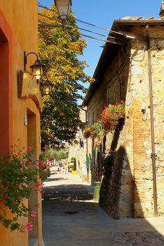 Uno scorcio - Monteriggioni, Tuscany   by © Fabrydippo76   via alucardoo, province of Siena