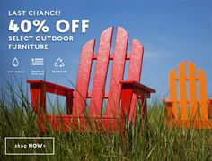 Last Chance to Save! 40% OFF SELECT OUTDOOR FURNITURE