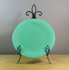 Green Fiestaware Dish 9 inch Lunch Plate Original by TheGreenFinch, #sellergroup