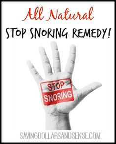 This All Natural Stop Snoring Remedy finally made it possible for me to sleep through the night without my husbands snoring waking me up or keeping me from falling asleep.