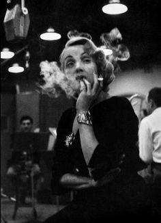 Eve Arnold, Marlene Dietrich, recording Lili Marlene -1952  on ArtStack #eve-arnold #art