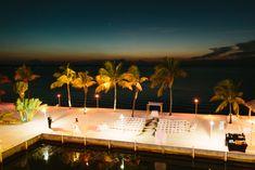 beach Wedding ceremony at night | Key Largo Marriott Weddings Pand D-16