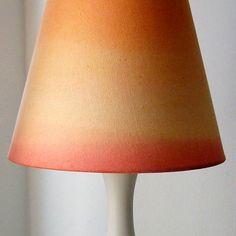 diy dip dyed lamp shade