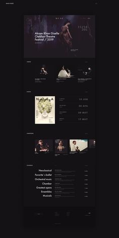 Minimal Web Design, Digital Web, World Famous Artists, Cultural Events, Presentation Design, Classical Music, User Interface, Behance, Landing