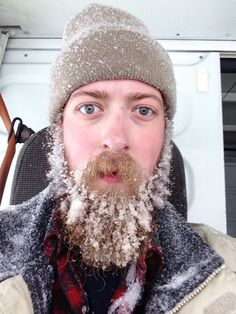 fully frozen snow beard - full thick beard and mustache beards bearded man men winter snow cold icy nice eyes #snowbeard #beardsforever