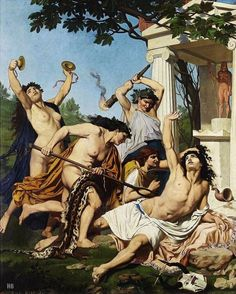 The Death of Orpheus.1874. Emile Jean Baptiste Philippe Bin. French. 1825-1897. oil on canvas.