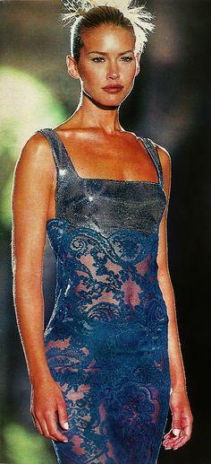 Valeria Mazza - Atelier Versace Spring Summer 1996 - Paris Fashion Week