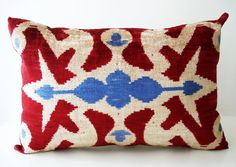 Uzbekistan Tribal Pillow.  Get this for indigo chair.