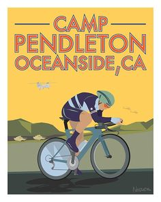 Marine Base Camp Pendleton: Perfect for hammer sessions and testing yourself on a nice 12 mile route. Illustrated by Greg Nesler.