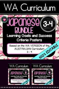 YEAR 3-4  JAPANESE  WA CURRICULUM Learning Goals & Success Criteria Posters