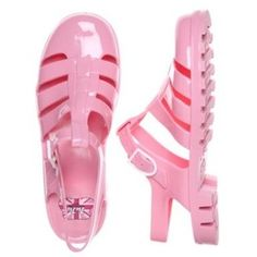 JuJu Pale Pink Maxi Jelly Shoes