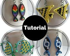 Tutorial for Paper Quilled Jewelry PDF Paisley and Teardrop
