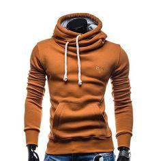 2017 new Fashion Spring autumn hip hop hoodie sweatshirt men hooded streetwear pillover tracksuit Solid Color sportswear Hoody Men's Fashion Brands, New Fashion, Spring Fashion, Fashion Vest, Fashion Guide, Hipsters, Modern Outfits, Mens Sweatshirts, Sportswear
