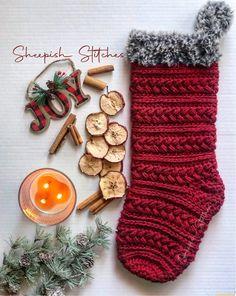 Love Crochet, Crochet Gifts, Hand Crochet, Crochet Christmas, Handmade Gifts For Her, Etsy Handmade, Stocking Pattern, Handmade Christmas, Christmas Stockings