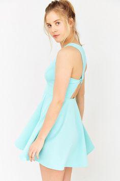 $59, Light Blue Skater Dress: Kimchi