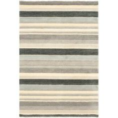 Rosecliff Heights Brookvale Striped Hand-knotted Wool Gray/Beige Area Rug Rug Size: Rectangle x Orange Area Rug, Navy Blue Area Rug, Floral Area Rugs, Beige Area Rugs, Transitional Rugs, Brown And Grey, Gray, Rug Size, Hand Weaving