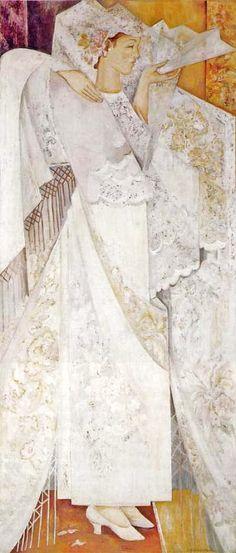 1916 Natalia Goncharova (Russian artist, 1881-1962) Spanish Dancer