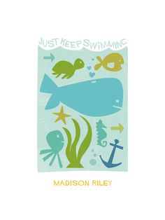 Just Keep Swimming by robin ott design for Minted