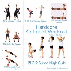 If you are looking for a new routine to add to your fitness plan, Kettlebells are fabulous for burning fat & getting you toned FAST! Here are some hardcore exercises for maximum results.