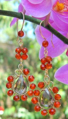 Tutorial Wire Wrap Earring Paisley Dangle Sale by TangoCatGems, $5.00