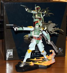 Star Wars Boba Fett Animated Maquette Statue From Gentle Giant LOOSE 905/7000