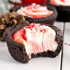 These Chocolate Peppermint Cookie Cups are the perfect make-ahead treat for the holidays!