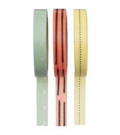 3-pak washi tape 8 meter