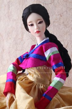 korea bjd doll     doll name is yeondu  yenimdoll's sd doll (57cm)  korea traditional dress hanbok
