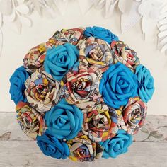 Comic book floral bouquet (I can make them) Hey, I found this really awesome Etsy listing at https://www.etsy.com/listing/276089302/comic-wedding-ideas-paper-marvel-dc