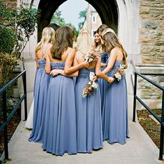 The bridesmaids all wore the same dress by Bari Jay.   SouthernLiving.com