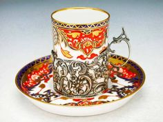 Royal Crown Derby  Imari with siver holder  1906