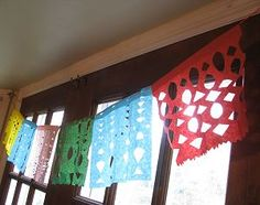 Papel Picado for Cinco de Mayo kids' craft.
