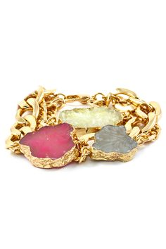 Gold Foiled Druzy Bracelet | Awesome Selection of Chic Fashion Jewelry | Emma Stine Limited