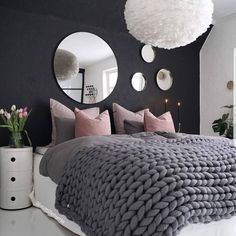 "newinteriorinspo on Instagram: ""This Beautiful bedroom @mittlillehjerte . . . #interior #interiordesign #interiør #loveinterior #inspireme #inspiration #nordicdesign…"""