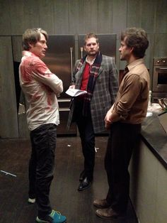 Twitter / BryanFuller: WITH MADS MIKKELSEN AND HUGH DANCY TUCKING IN FOR THE RED DINNER #HannibalFinale pic.twitter.com/SPBpIGbIWC