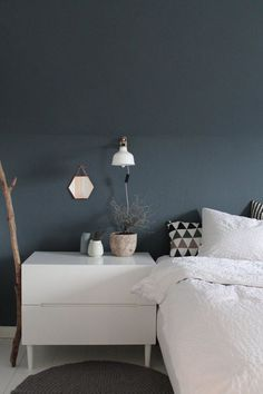 Schon Schlafzimmer, Blau Graue Wand