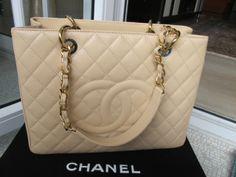 b69380e3504b 2500 thru ️️NEW Chanel GST. AUTHENTIC Brand new Chanel Grand shopping tote BEIGE  caviar with gold hardware. Authenticity card, dust bag and box included.