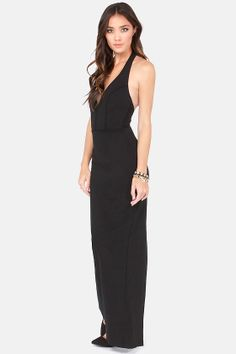 Bundle of Curves Black Bodycon Maxi Dress at LuLus.com! Inexpesive if a formal dress is needed!