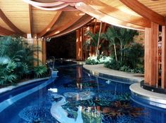 Gorgeous home which is essentially a  tropical garden with 75 feet of lap pool running through the entire house!