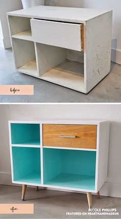 Retro Sideboard Table Makeover 20 Incredible Furniture Makeovers - http://www.homedecoratings.net/retro-sideboard-table-makeover-20-incredible-furniture-makeovers