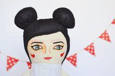 Björk Swan Cloth Doll Handmade stuffed toys by MandarinasDeTela