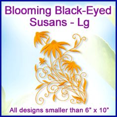 A Blooming Black-Eyed Susans Design Pack - Lg