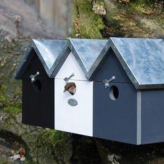 Esschert Design Mussenvilla - Zwart-Wit-Grijs