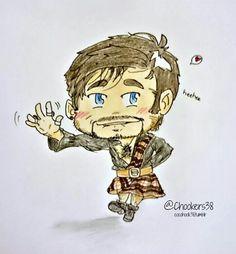 Colin in a kilt