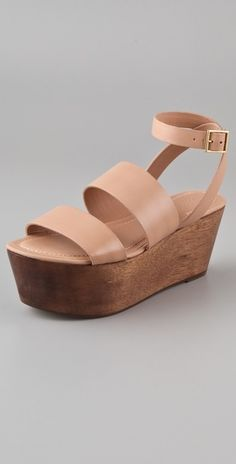 Elizabeth and James Bax Flatform Wedge Sandals