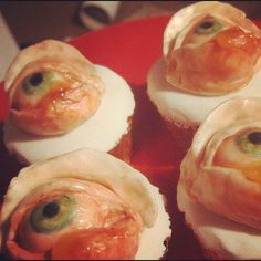 These eyeball cupcakes are very disturbing.