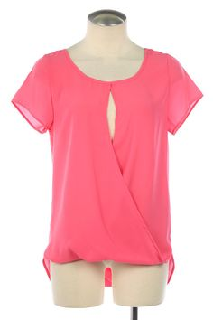 Pink Cut out Top. Hi/low top. The Cherry on Top Boutique llc. TCOT Boutique. Quad Cities. Bettendorf, IA