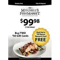 Mitchell's Fish Market (Landry's) - 2 X $50 plus $20 bonus