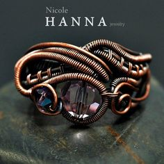 Wire wrap copper ring. www.nicolehannajewelry.com #coupon code nicesup123 gets 25% off at  www.Provestra.com www.Skinception.com and www.leadingedgehealth.com